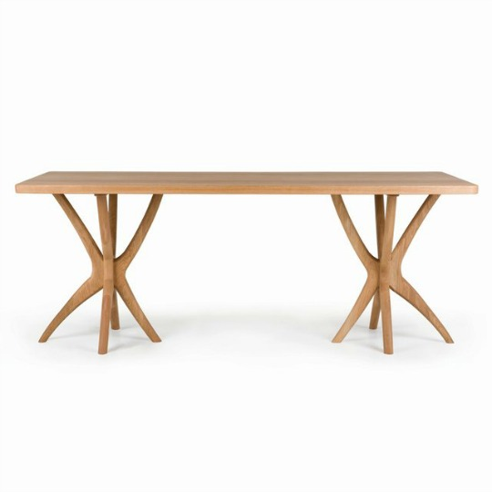 scrub table in oak